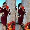 Платье трикотаж гладкая машинная вязка украшено белыми линиями. Размер:42-44. Цвета разные. (0843), фото 3