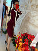 Платье трикотаж гладкая машинная вязка украшено белыми линиями. Размер:42-44. Цвета разные. (0843), фото 4