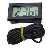Термометр цифровой  с выносным датчиком 1м черный