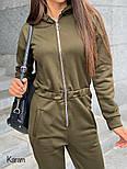 Женский теплый комбинезон с капюшоном на флисе (в расцветках), фото 4