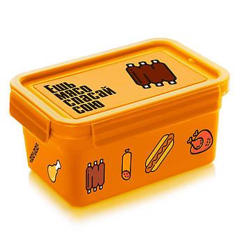 Ланч бокс  Мясо Народный продукт  0.85 л оранжевый, фото 2