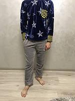Теплая мужская пижама со звездами