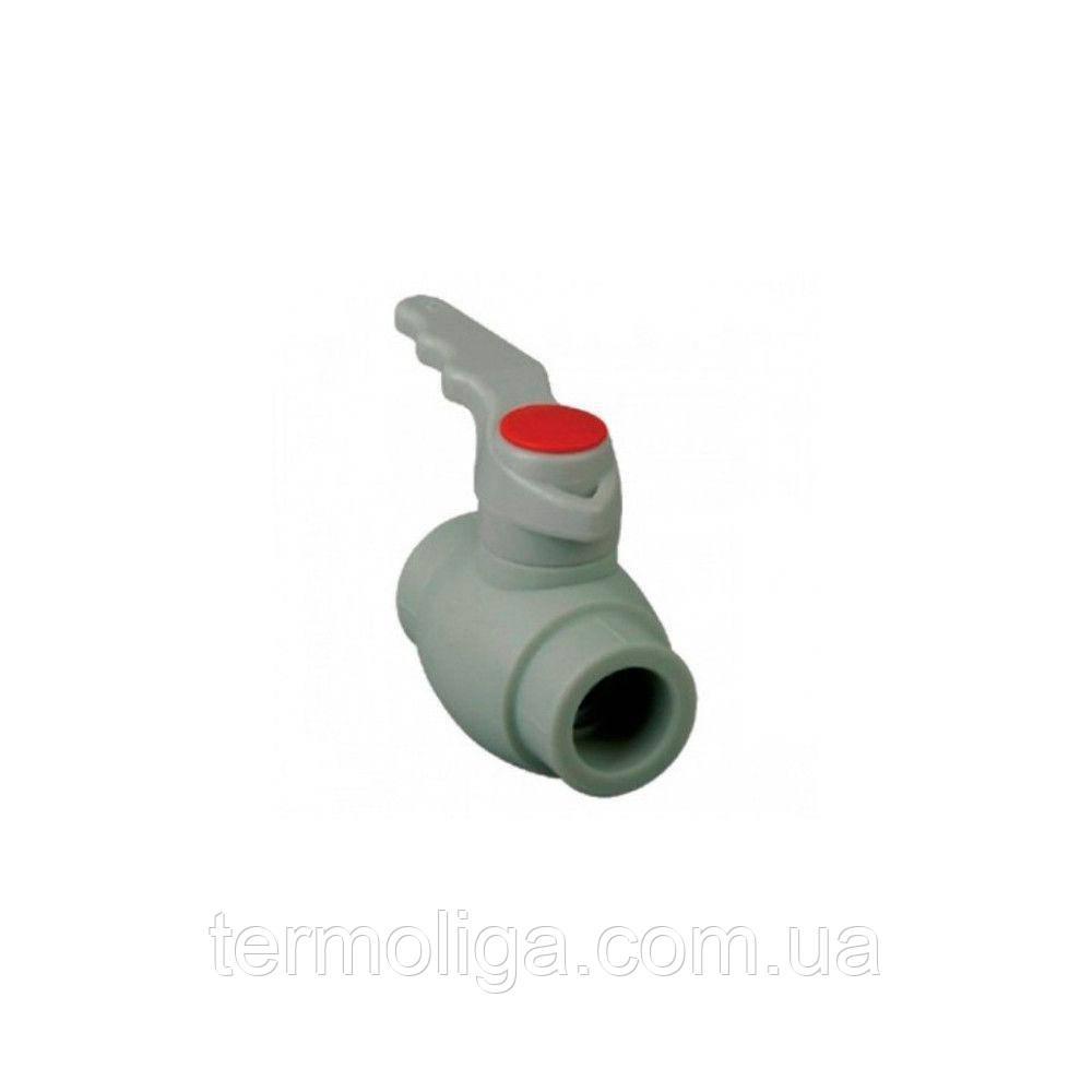 KOER кран кульовий (ручка) для гарячої води 20 для пайки поліпропіленових труб PPR
