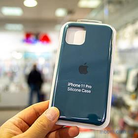 Накладка Apple Silicone Case iPhone 11 Pro {5.8} Cosmos Blue [копія]