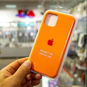 Накладка Apple Silicone Case iPhone 11 Pro {5.8} Orange [копія]