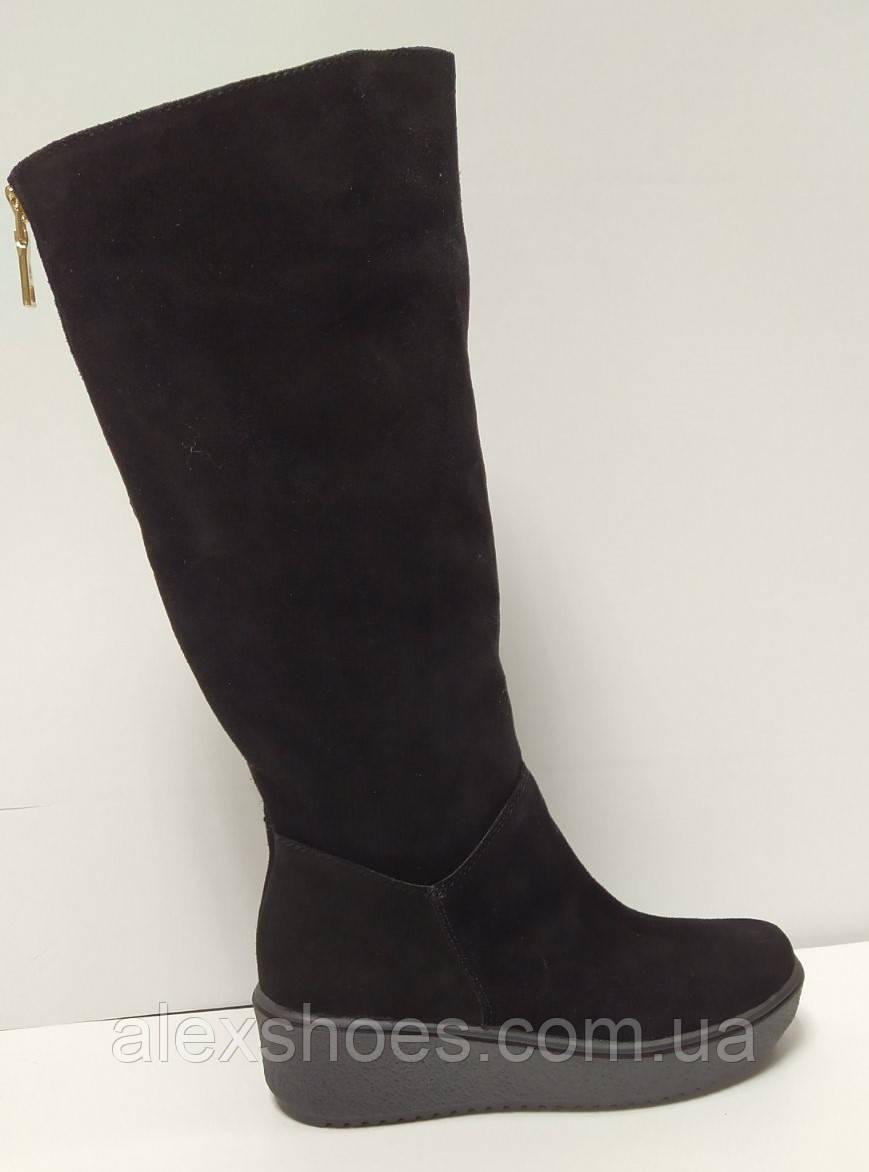 Сапоги женские зимние на полную ногу из натуральной замши от производителя модель РБ-46
