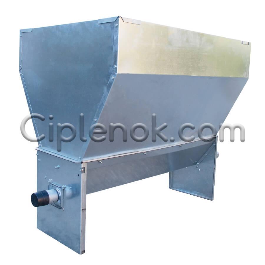 Бункер (хоппер) 150 кг в сборе (с поддоном и валом)