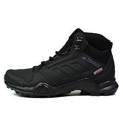 Черные зимние мужские ботинки ADIDAS TERREX AX3 BETA MID CW ( ОРИГИНАЛ ) G26524 ( Только 41 размер )