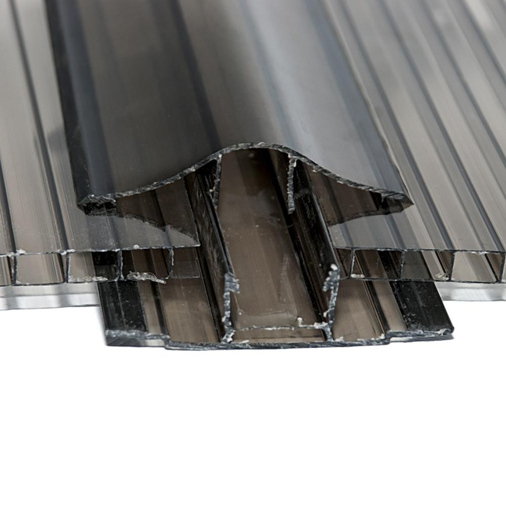 Профиль соединительный разъемный (база), бронза, 6 м, для листов поликарбоната 16 мм