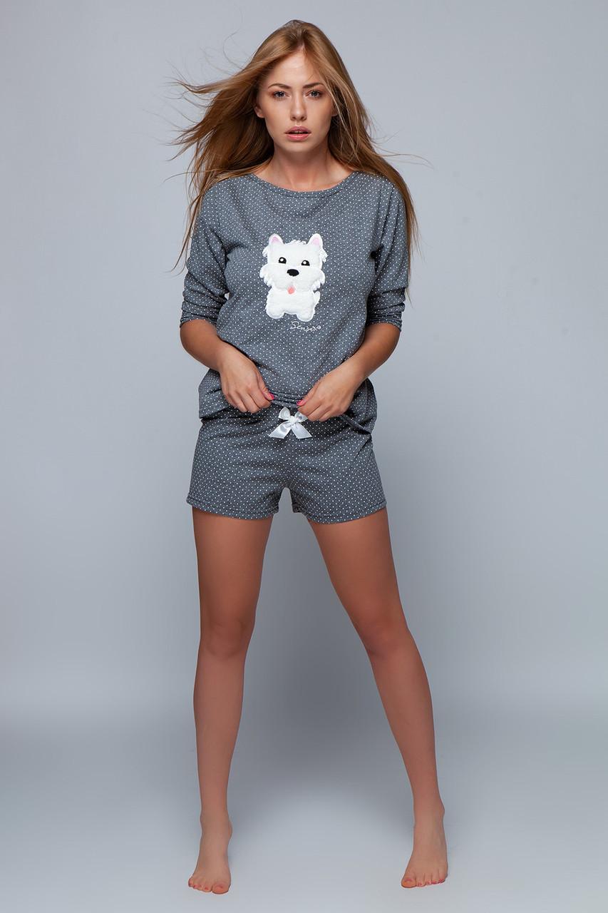 Жіноча піжама з собачкою у молодіжному стилі SENSIS Bella pizama S