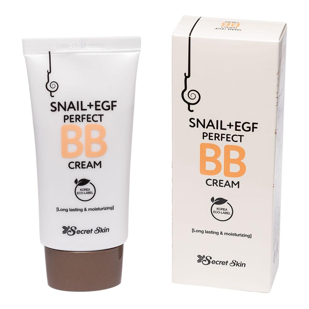 ББ крем з муцином равлики Secret Skin Snail+EGF Perfect BB Cream 50g