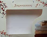 Коробка с ручками 25х20х5 Веточка