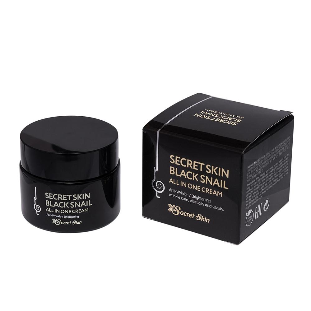 Крем для обличчя з муцином чорної равлики Secret Skin Black Snail All In One Cream 50g