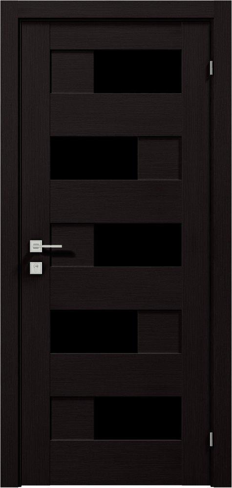 Дверь межкомнатная Rodos Verona BLK полустекло
