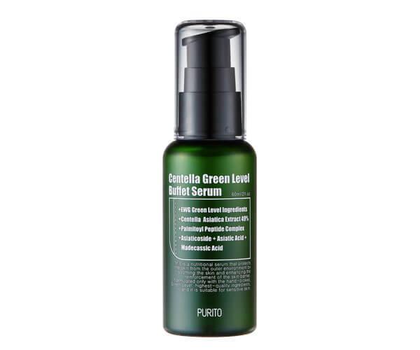 Увлажняющая сыворотка для восстановления кожи с центеллой PURITO Centella Green Level Buffet Serum, 60 ml
