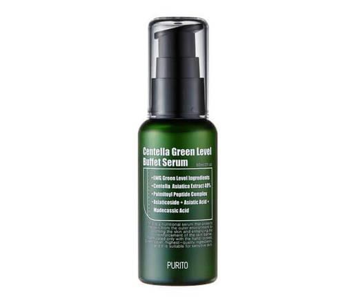 Зволожуюча сироватка для відновлення шкіри з центеллой PURITO Centella Green Level Buffet Serum, 60 ml, фото 2