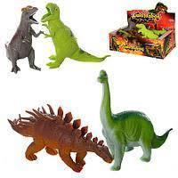"""Животные резиновые 7208 (432шт/2)""""Динозавры""""  27*15*8,5см, игрушка-17см"""