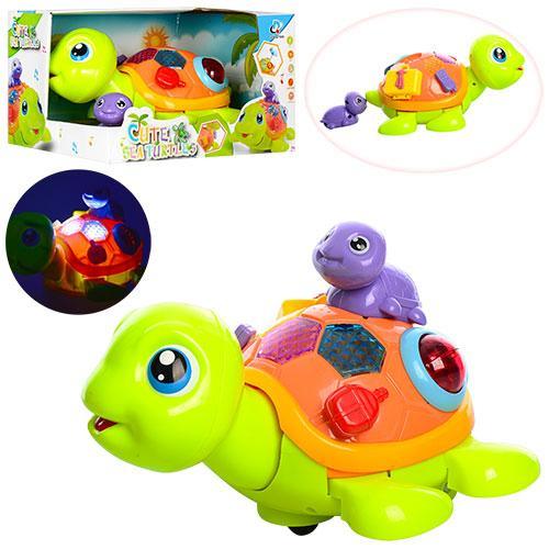 Музыкальная светящаяся черепаха 2088 21 см ездит музыкальные и световые эффекты