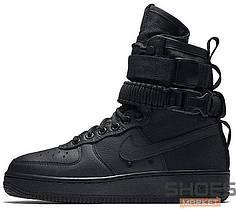 Мужские кроссовки Nike SF Air Force 1 Black, Найк Аир Форс