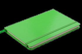Блокнот діловий STRONG LOGO2U 125x195мм, 80арк., клітинка, обкладинка зі штучної шкіри, салатовий