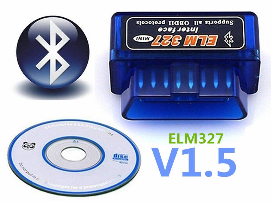 Автомобильный сканер для диагностики OBD2 адаптер ELM327 mini v1.5 Bluetooth двухплатный OBDII