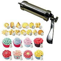 Кондитерский шприц -пистолет  Jiale Cookie Press с 8 насадками для крема и 13 насадками для печенья, фото 1