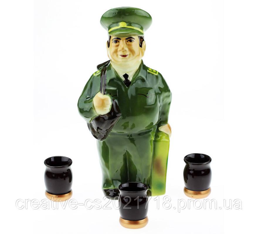 Подарочный набор Военный, 4 предмета