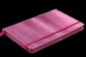 Блокнот діловий INGOT 125x195мм, 80арк., клітинка, обкладинка зі штучної шкіри, рожевий