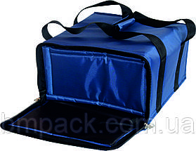 Термосумка для доставки пиццы т.синяя застёжка молния, фото 2