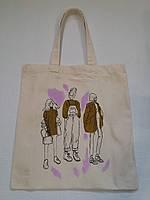 Эко-сумка из хлопка с рисунком Три девушки