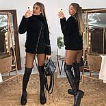 Женская шуба из искусственного меха на молнии, фото 3