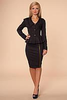 Нарядный женский костюм пиджак и юбка