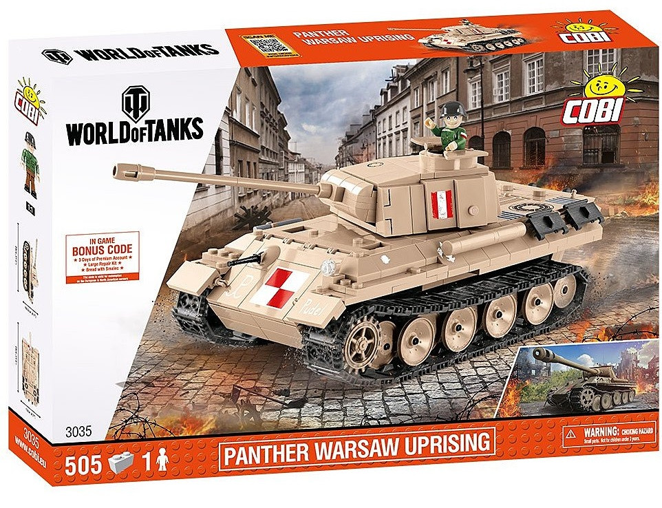 Конструктор Танк Пантера COBI World Of Tanks (COBI-3035)