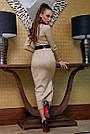 Элегантное платье женское р. от 42 до 48, вязка ангора цвет капучино, фото 5