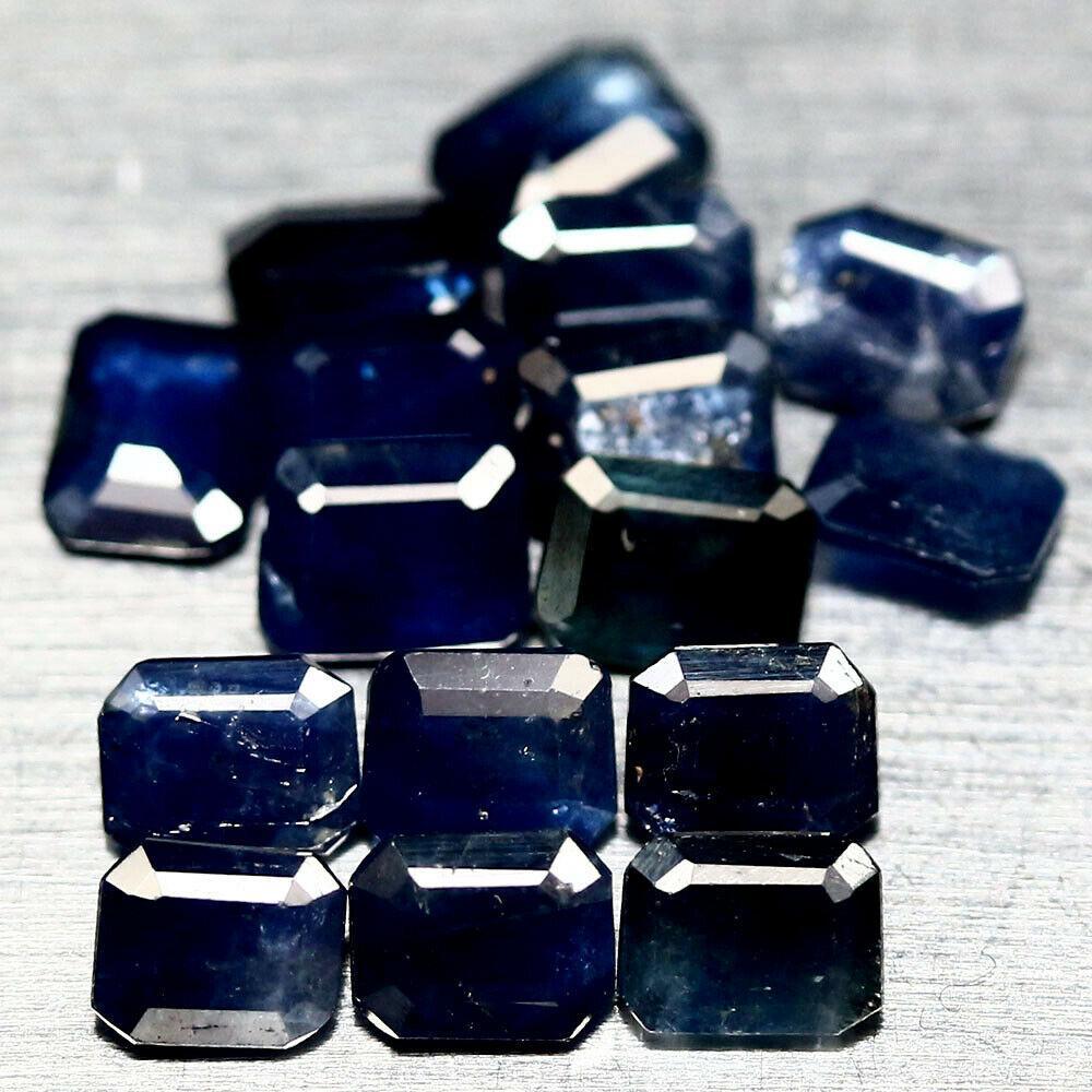 Натуральный Синий Сапфир октагон