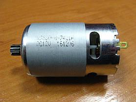 Двигатель аккумуляторного шуруповерта 12В шестерня 8 мм 9 зубов, фото 3