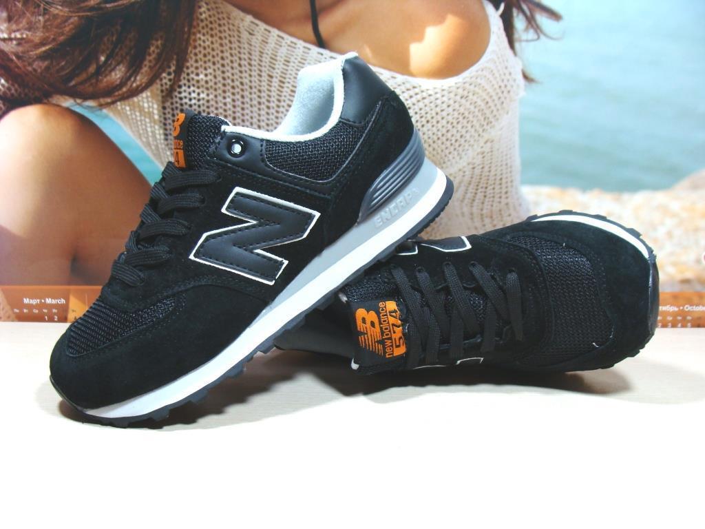 Женские кроссовки New Balance 574  черные 37 р.