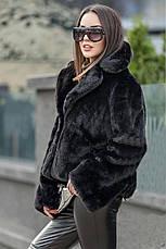 Хит сезона! женская коротка шубка пудровая размер  универсальный 42-48, фото 3