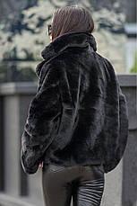 Хит сезона! женская коротка шубка пудровая размер  универсальный 42-48, фото 2