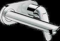 Змішувач для раковини зі стіни Hansgrohe Novus : прихований монтаж 195 мм хромований