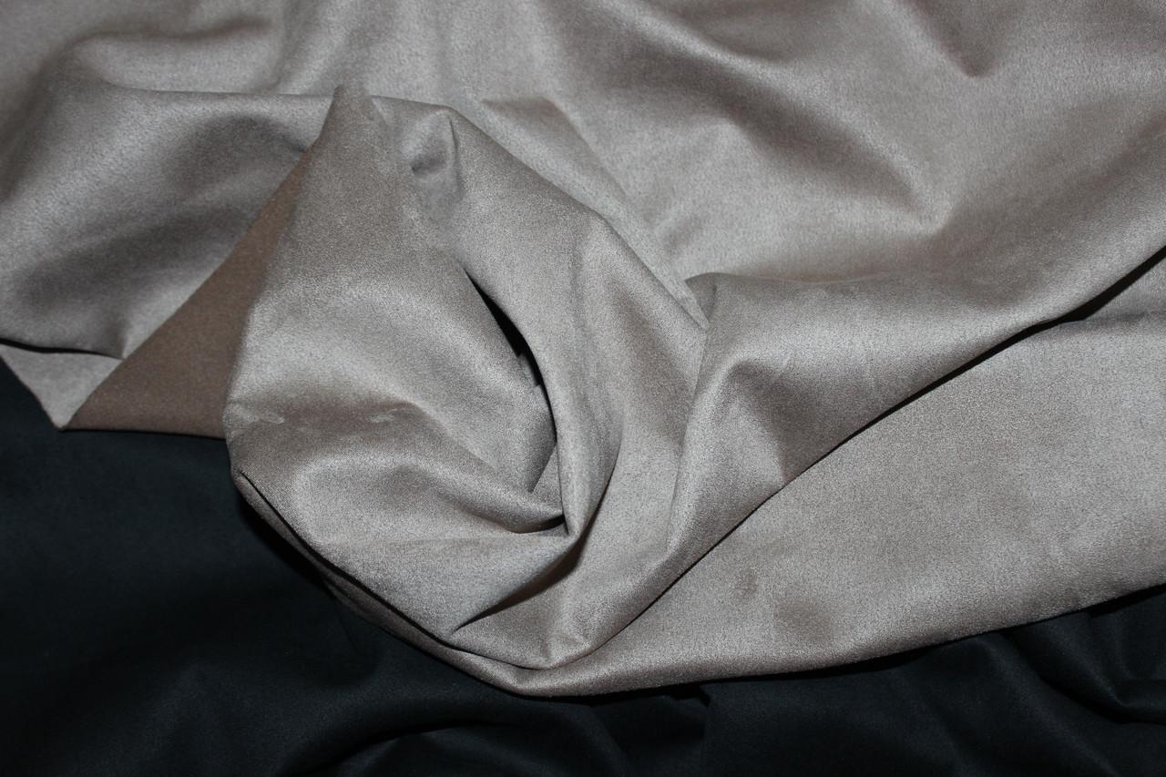 Ткань замш на дайвинге беж, фото 1