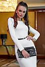 Облегающее платье женское р. от 42 до 48, вязка ангора, белое, фото 2