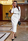 Облегающее платье женское р. от 42 до 48, вязка ангора, белое, фото 3