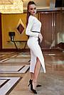Облегающее платье женское р. от 42 до 48, вязка ангора, белое, фото 4