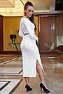 Облегающее платье женское р. от 42 до 48, вязка ангора, белое, фото 5