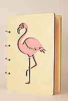 Блокнот А5 80л Розовый фламинго обл. дерев.