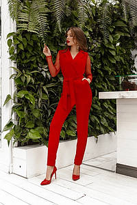 Женский комбинезон Красный