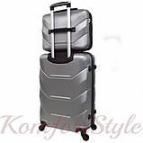 Комплект чемодан и кейс Bonro 2019 большой серебряный (10501202), фото 2