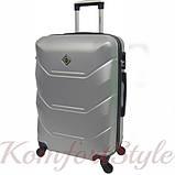 Комплект чемодан и кейс Bonro 2019 большой серебряный (10501202), фото 3