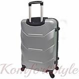 Комплект чемодан и кейс Bonro 2019 большой серебряный (10501202), фото 4